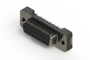 628-015-226-012 - Vertical Plastic Body D-Sub Connector