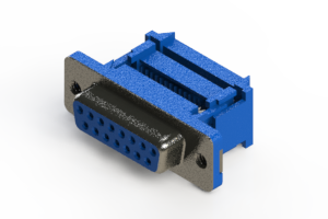 628-015-227-012 - Vertical Plastic Body D-Sub Connector