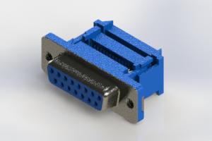 628-015-227-212 - Vertical Plastic Body D-Sub Connector