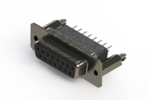 628-015-241-076 - Vertical Metal Body D-Sub Connector