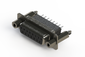 628-015-241-077 - Vertical Metal Body D-Sub Connector