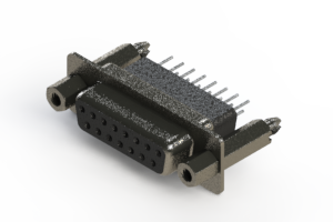 628-015-251-257 - Vertical Metal Body D-Sub Connector