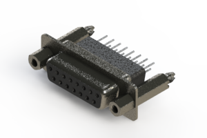 628-015-261-057 - Vertical Metal Body D-Sub Connector