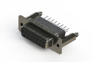 628-015-261-076 - Vertical Metal Body D-Sub Connector