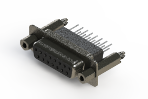 628-015-271-057 - Vertical Metal Body D-Sub Connector