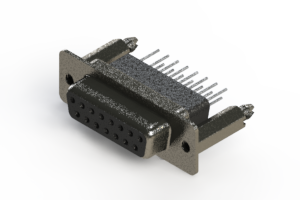 628-015-271-276 - Vertical Metal Body D-Sub Connector
