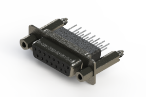 628-015-281-057 - Vertical Metal Body D-Sub Connector