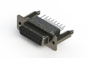 628-015-281-076 - Vertical Metal Body D-Sub Connector