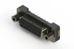 628-015-320-013 - Vertical Plastic Body D-Sub Connector