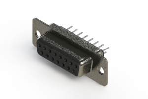 628-015-320-041 - Vertical Metal Body D-Sub Connector