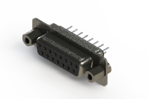 628-015-320-043 - Vertical Metal Body D-Sub Connector