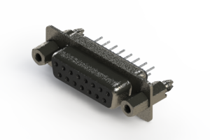 628-015-320-047 - Vertical Metal Body D-Sub Connector