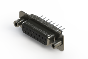 628-015-320-048 - Vertical Metal Body D-Sub Connector