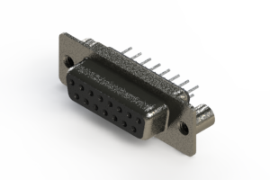 628-015-320-049 - Vertical Metal Body D-Sub Connector