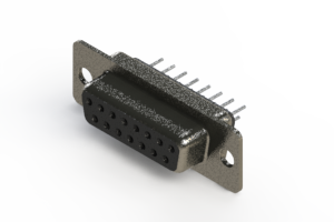 628-015-320-061 - Vertical Metal Body D-Sub Connector