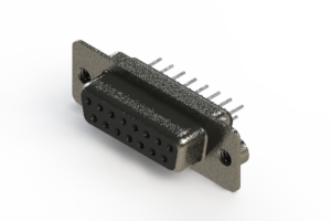 628-015-320-062 - Vertical Metal Body D-Sub Connector
