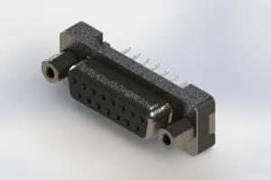 628-015-324-013 - Vertical Plastic Body D-Sub Connector