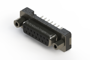 628-015-324-213 - Vertical Plastic Body D-Sub Connector