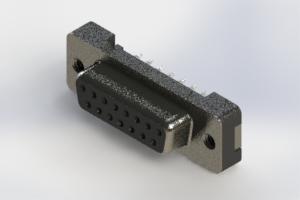 628-015-326-012 - Vertical Plastic Body D-Sub Connector