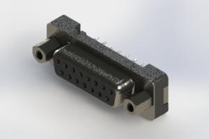 628-015-326-013 - Vertical Plastic Body D-Sub Connector