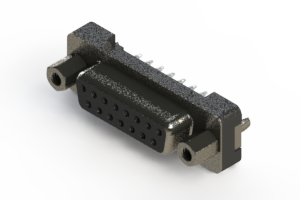 628-015-326-017 - Vertical Plastic Body D-Sub Connector