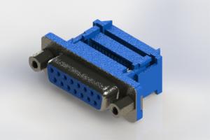 628-015-327-213 - Vertical Plastic Body D-Sub Connector