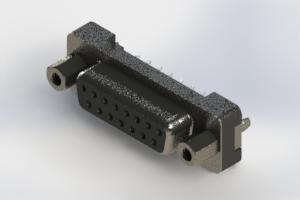 628-015-620-017 - Vertical Plastic Body D-Sub Connector