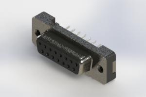 628-015-624-012 - Vertical Plastic Body D-Sub Connector