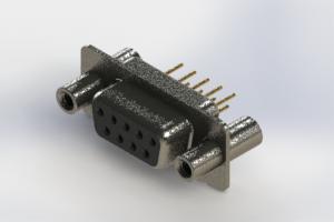 628-M09-221-BN4 - Vertical D-Sub Connector