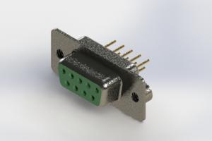628-M09-221-GT2 - Vertical D-Sub Connector