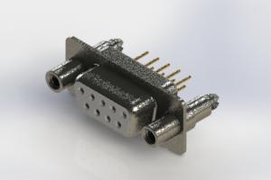 628-M09-221-WN6 - Vertical D-Sub Connector