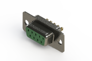 628-M09-222-GN1 - Vertical Machined D-Sub Connector