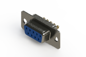 628-M09-222-LN1 - Vertical Machined D-Sub Connector