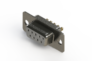 628-M09-222-WN1 - Vertical Machined D-Sub Connector