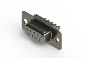 628-M09-222-WT1 - Vertical Machined D-Sub Connector
