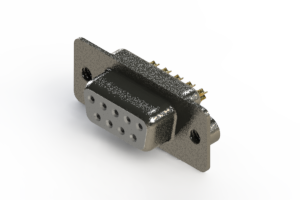 628-M09-222-WT2 - Vertical Machined D-Sub Connector