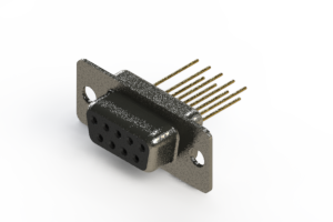 628-M09-223-BN1 - Vertical Machined D-Sub Connector