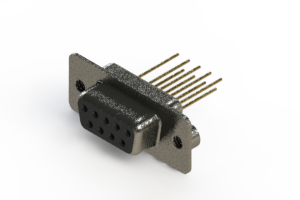 628-M09-223-BN2 - Vertical Machined D-Sub Connector