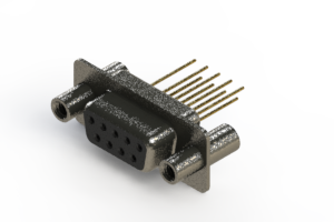 628-M09-223-BN4 - Vertical Machined D-Sub Connector