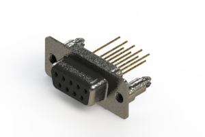 628-M09-223-BN5 - Vertical Machined D-Sub Connector