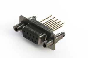 628-M09-223-BN6 - Vertical Machined D-Sub Connector