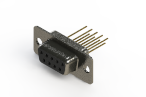 628-M09-223-BT1 - Vertical Machined D-Sub Connector