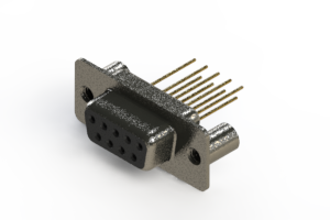 628-M09-223-BT3 - Vertical Machined D-Sub Connector