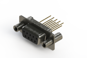 628-M09-223-BT4 - Vertical Machined D-Sub Connector