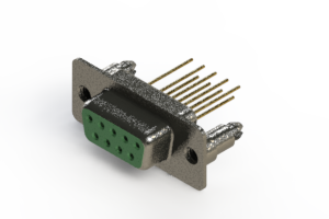 628-M09-223-GN5 - Vertical Machined D-Sub Connector
