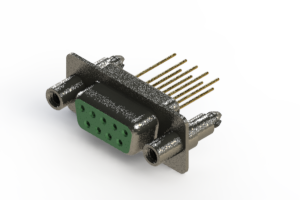628-M09-223-GN6 - Vertical Machined D-Sub Connector