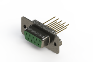 628-M09-223-GT2 - Vertical Machined D-Sub Connector