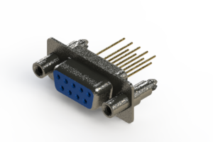 628-M09-223-LN6 - Vertical Machined D-Sub Connector