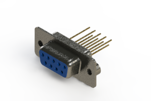 628-M09-223-LT2 - Vertical Machined D-Sub Connector