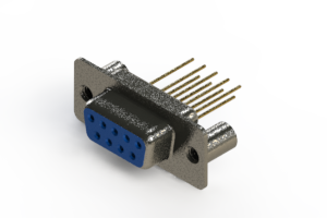 628-M09-223-LT3 - Vertical Machined D-Sub Connector